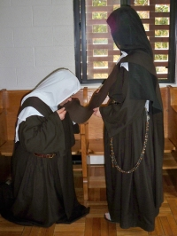 Kissing the Scapular
