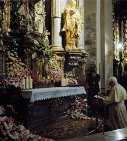 Pope Benedict visiting the Shrine in Prague