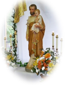 Joseph-statue oval
