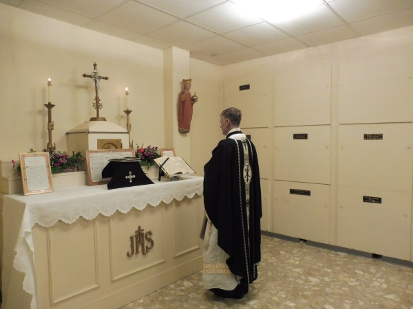 Requiem Mass in the crypt