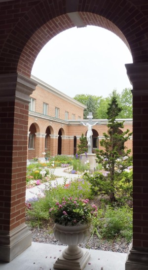 Looking onto our cloister garden